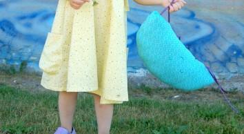 Children's Yellow Summer Dress Burda 9437