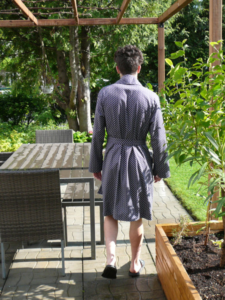 bath robe from the back