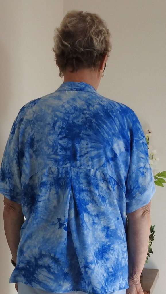 showing the back yoke and pleat