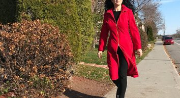 Burda red raincoat