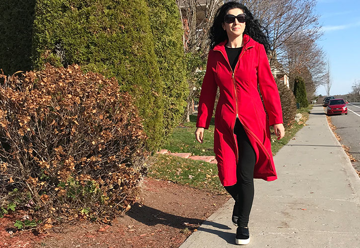 Burda red raincoat