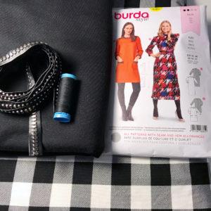 Jersey dress materials, fabric, pattern, trim